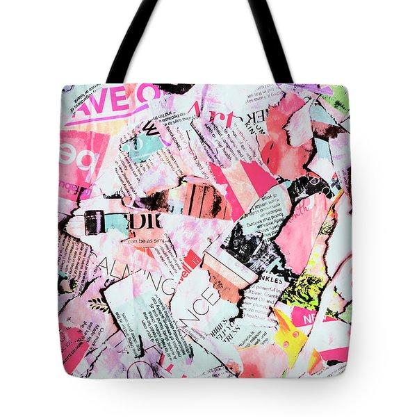 Mixed Media Messages Tote Bag