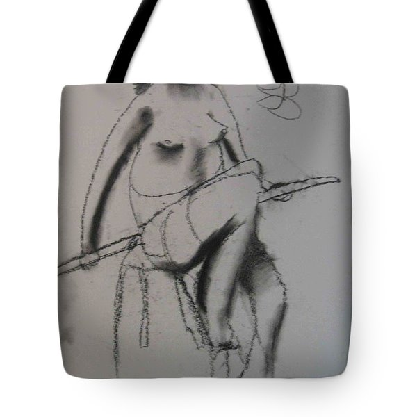 model named Chieh three Tote Bag