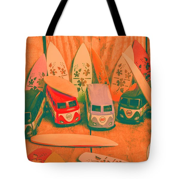 Modelling A Surfing Vacation Tote Bag