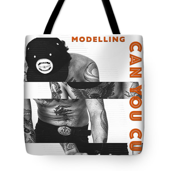 Modelling Can You Cut It? Tote Bag