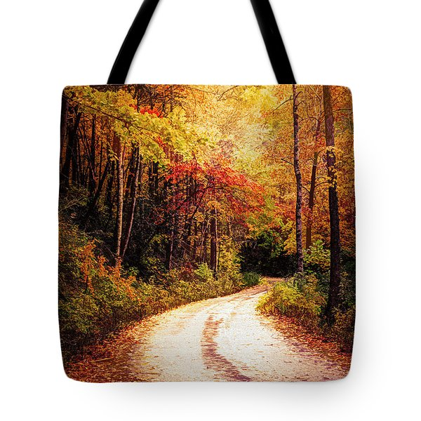 Molten Golds In The Forest Tote Bag