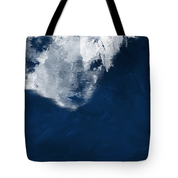 Tote Bag featuring the painting Moment In Blue- Art By Linda Woods by Linda Woods