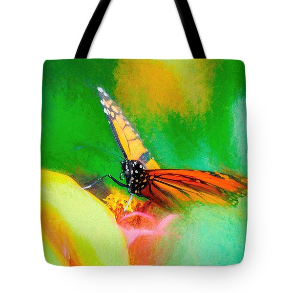 Monarch Butterfly Beautiful Smudge Tote Bag