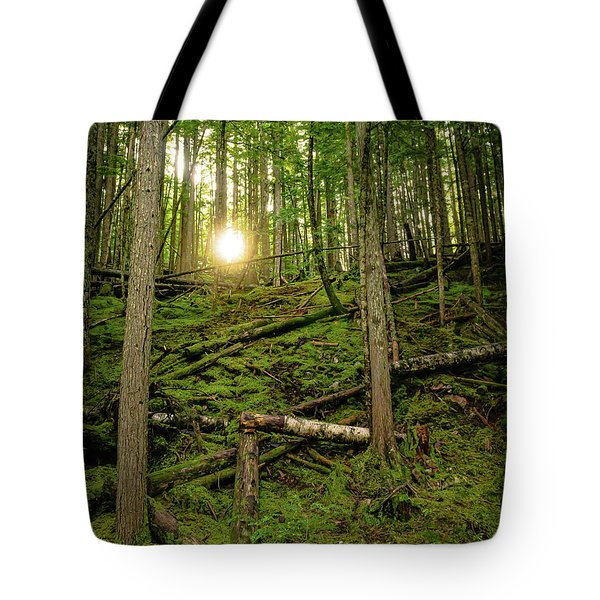 Monashee Forest Portrait Tote Bag