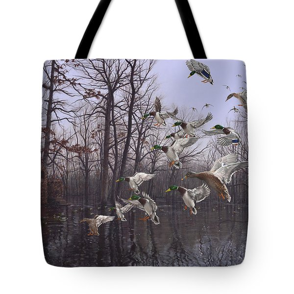 Monday Morning Mallards Tote Bag