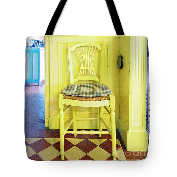 Monet's Kitchen Yellow Chair Tote Bag
