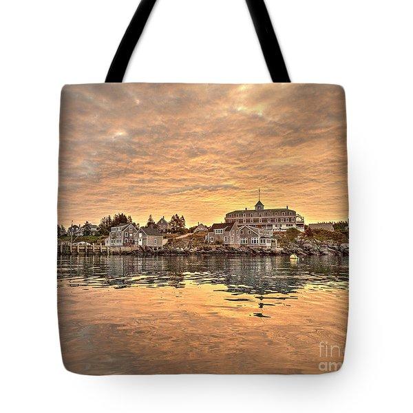 Monhegan Sunrise - Harbor View Tote Bag