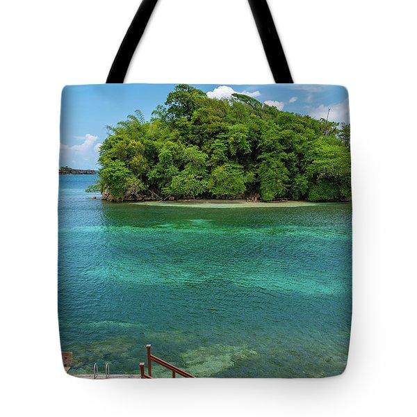 Monkey Island In Portland Jamaica Tote Bag