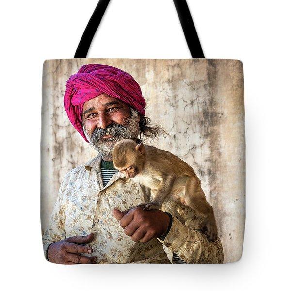 Monkey Temple Tote Bag