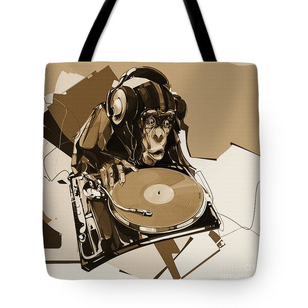 Monkey The Dj 01 Tote Bag
