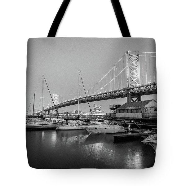 Monochrome Marina  Tote Bag