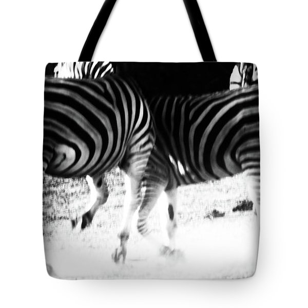 Monochrome Motion Tote Bag