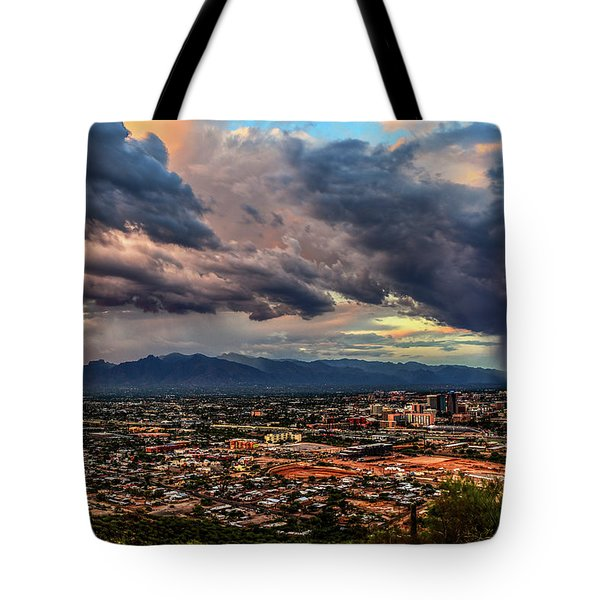 Monsoon Hits Tucson Tote Bag