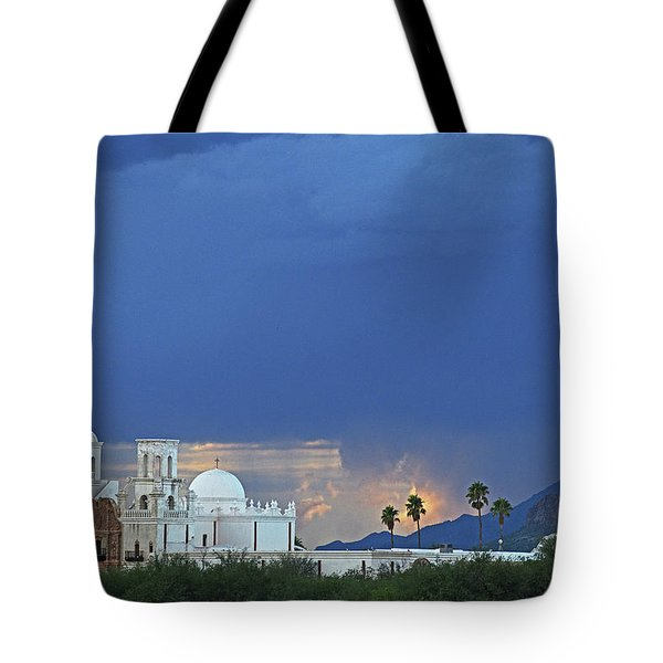 Monsoon Skies Over The Mission Tote Bag