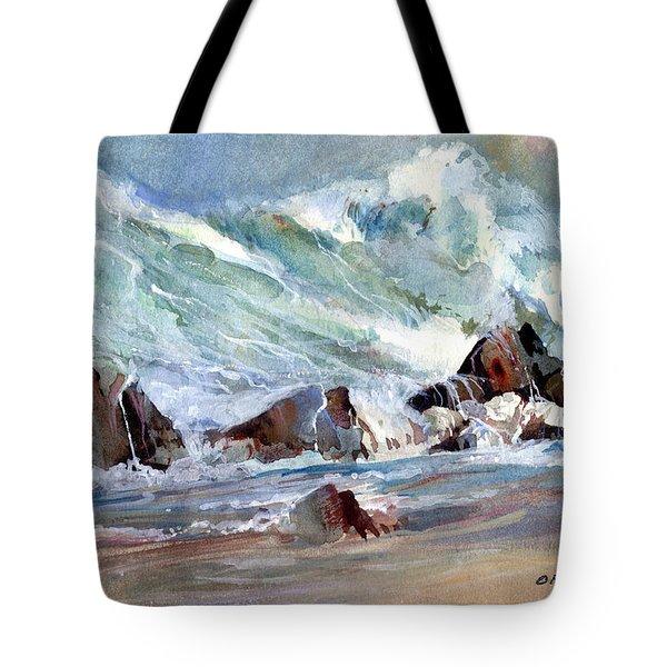 Monster Waves Tote Bag