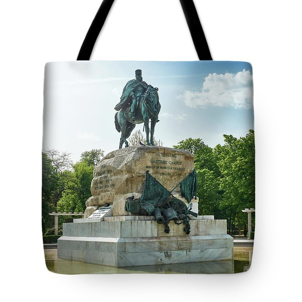 Monument To General Arsenio Martinez Campos In Madrid, Spain Tote Bag
