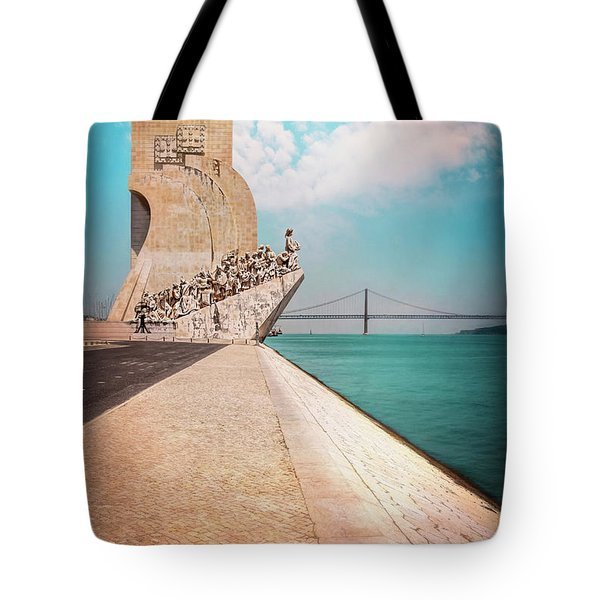 Monument To The Discoveries Belem Lisbon Portugal Tote Bag