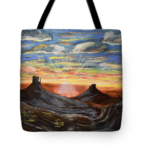 Monument Valley And Kokopelli Tote Bag