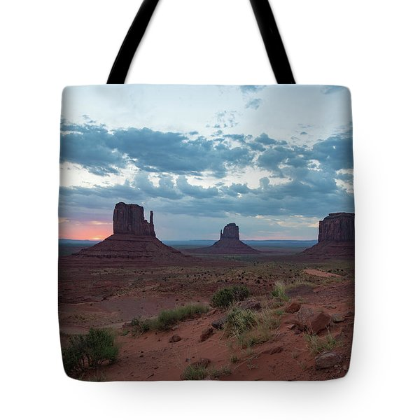 Monument Valley Before Sunrise Tote Bag