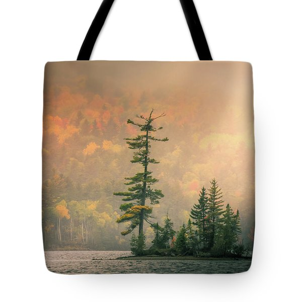 Moody Autumn Morning On Moosehead Lake Tote Bag