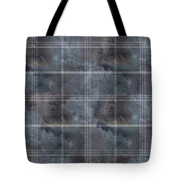 Moody Blue Plaid Tote Bag