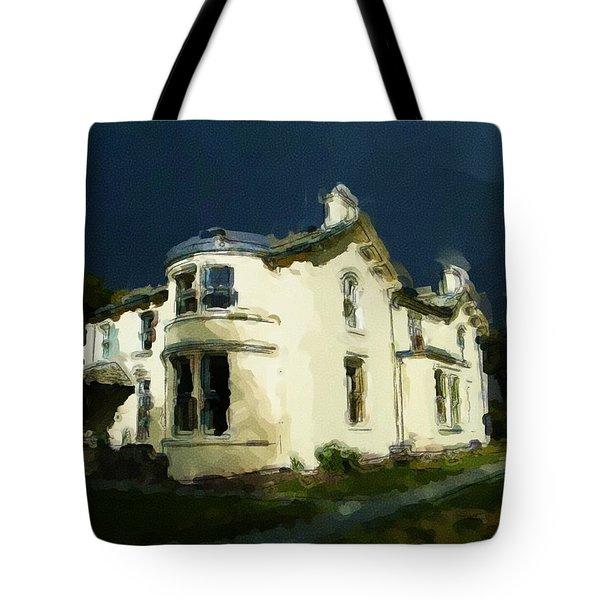 Moody Sky Over Allenbank Painting Tote Bag