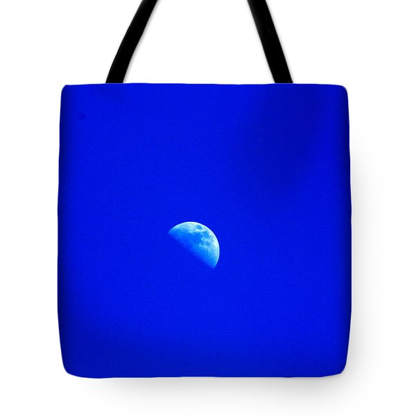 Moon In A Daytime Sky Tote Bag