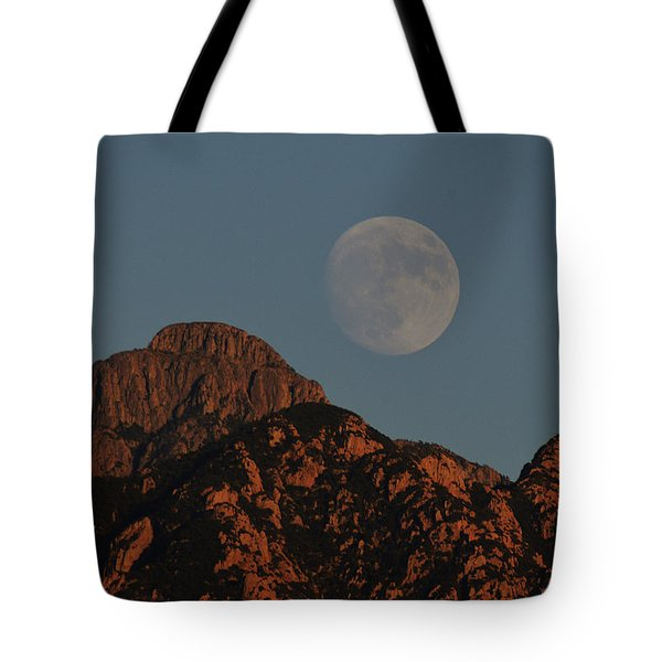 Moon Rise Over Mount Wrightson  Tote Bag