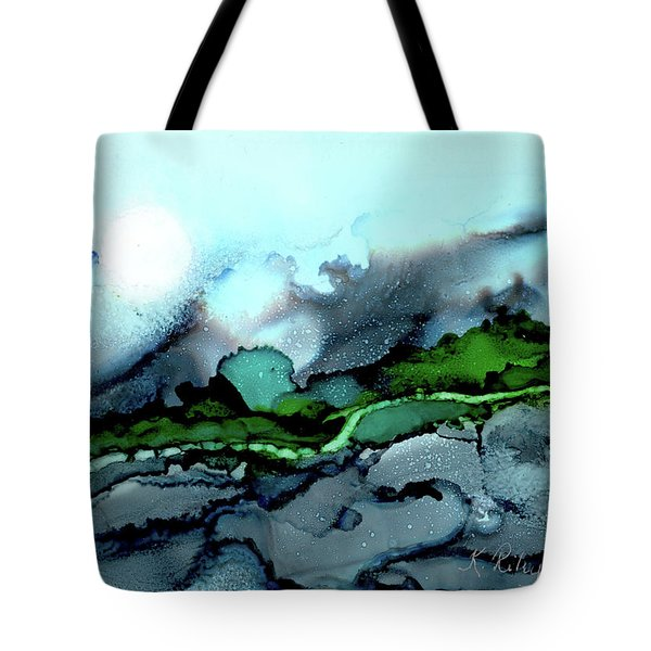 Tote Bag featuring the painting Moondance Iv by Kathryn Riley Parker
