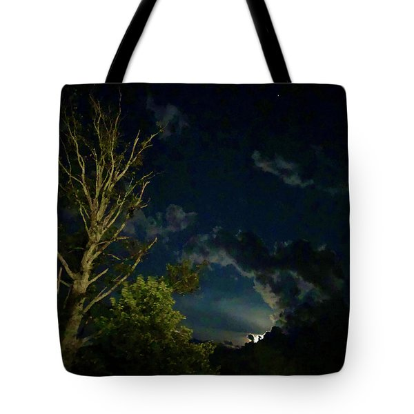 Moonlight In The Trees Tote Bag