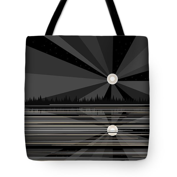 Moonrise In Black And White Tote Bag