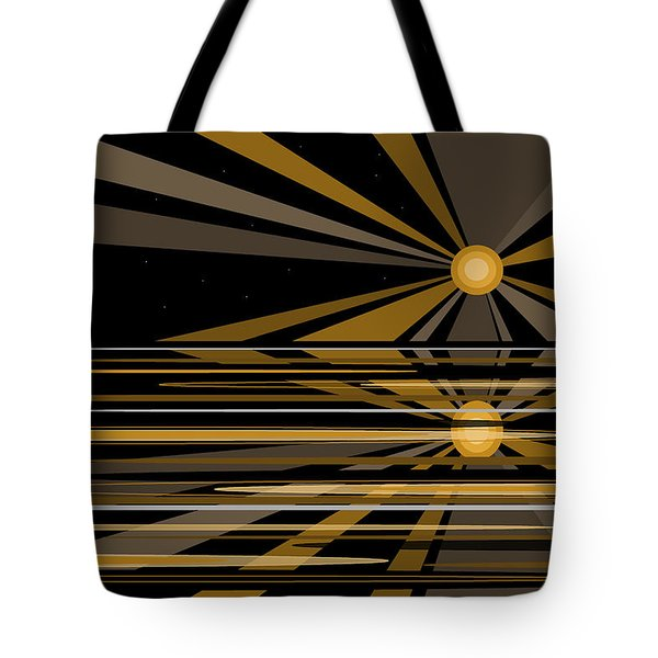 Moonshine In Black And Gold Tote Bag