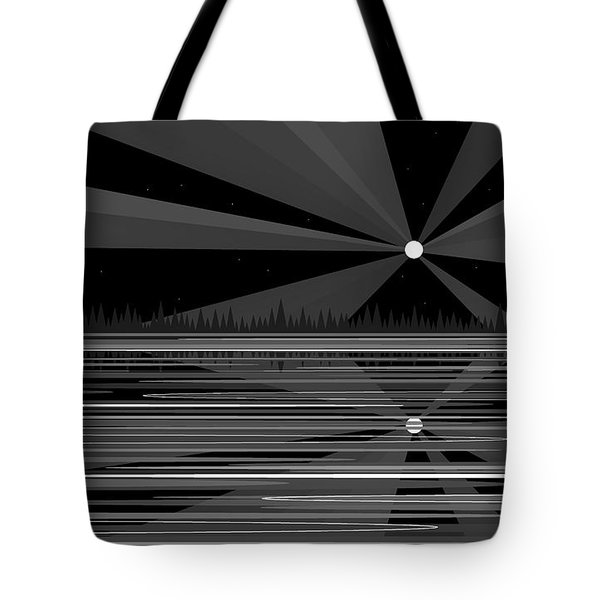 Moonshine In Black And White Tote Bag