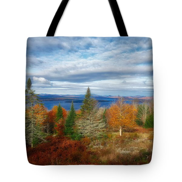 Mooselookmeguntic Lake Fall Colors Tote Bag