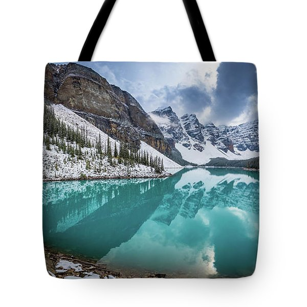 Moraine Lake Panorama Tote Bag
