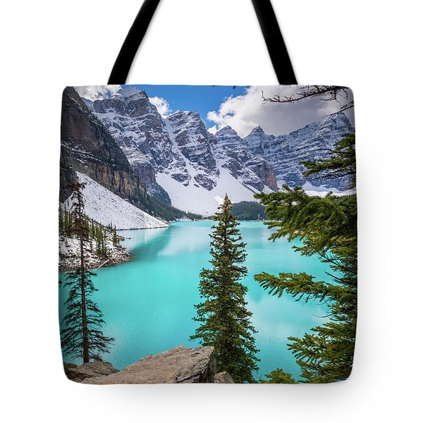 Moraine Lake Viewpoint Tote Bag