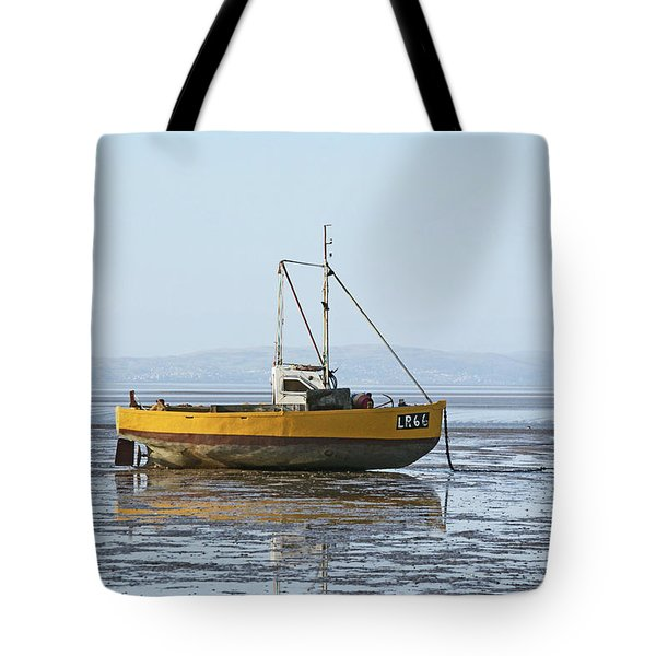 Morecambe. Yellow Fishing Boat. Tote Bag