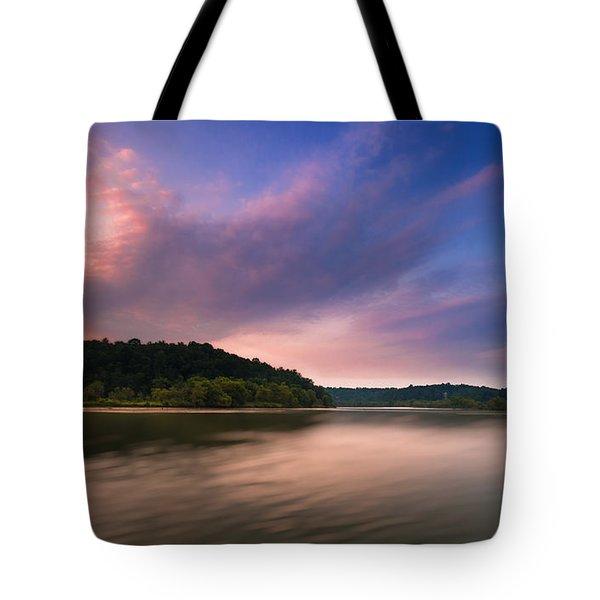 Tote Bag featuring the photograph Morgan Falls Overlook by Bernd Laeschke