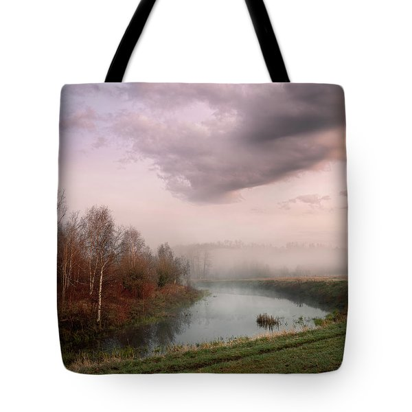 Morning By The Oxbow Tote Bag