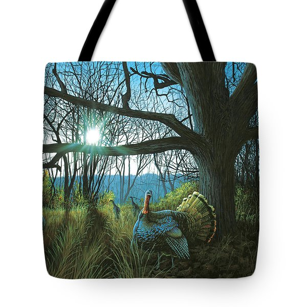 Morning Chat - Turkey Tote Bag