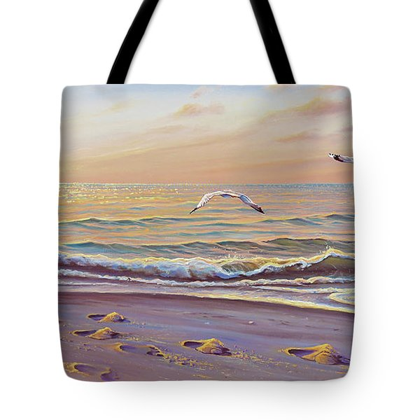 Morning Glisten Tote Bag