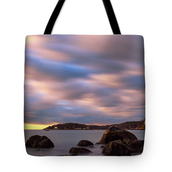 Tote Bag featuring the photograph Morning Glow, Stage Fort Park. Gloucester Ma. by Michael Hubley