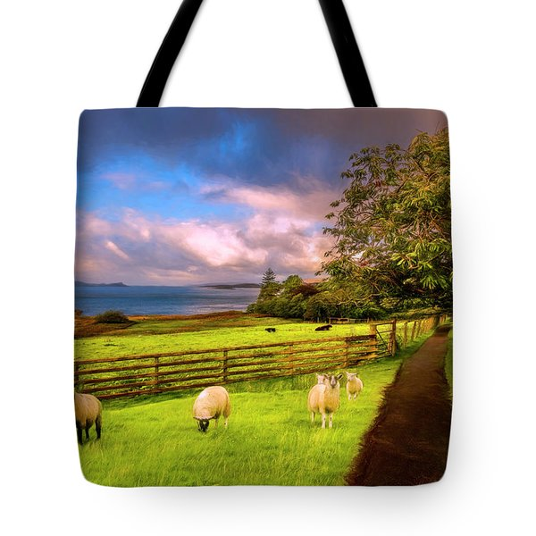 Morning Grazing Painting Tote Bag