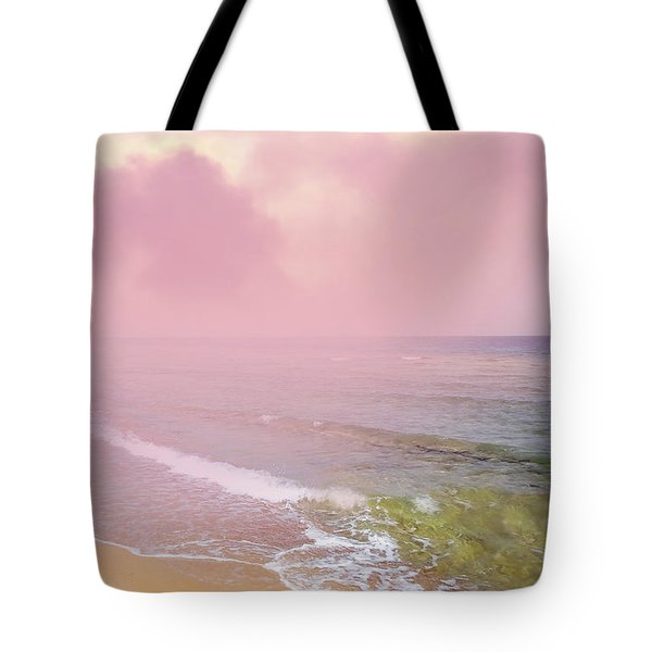 Morning Hour By The Seashore In Dreamland Tote Bag