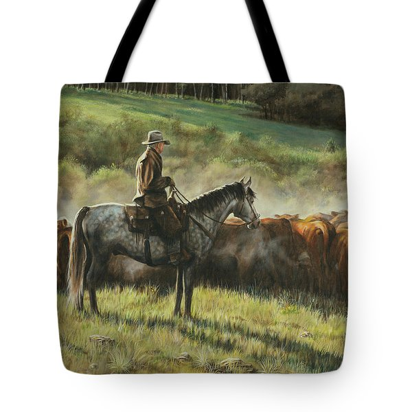 Morning In The Highwoods Tote Bag