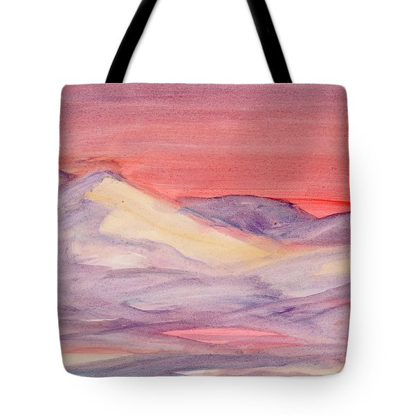Tote Bag featuring the painting Morning Light In The Mountains by Dobrotsvet Art