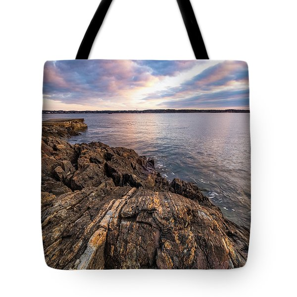 Morning Light Over The Piscataqua River. Tote Bag