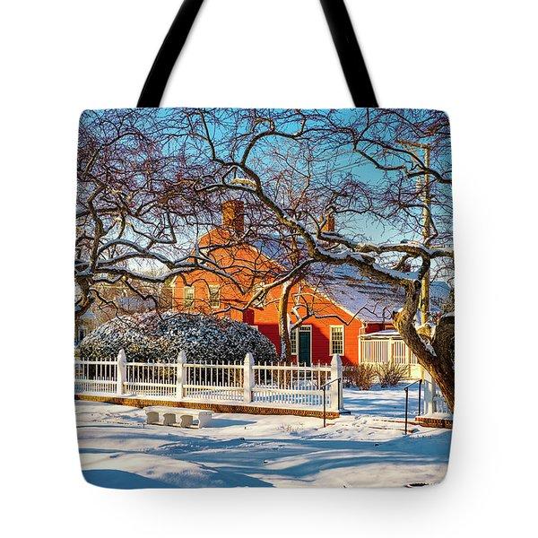 Morning Light, Winter Garden. Tote Bag