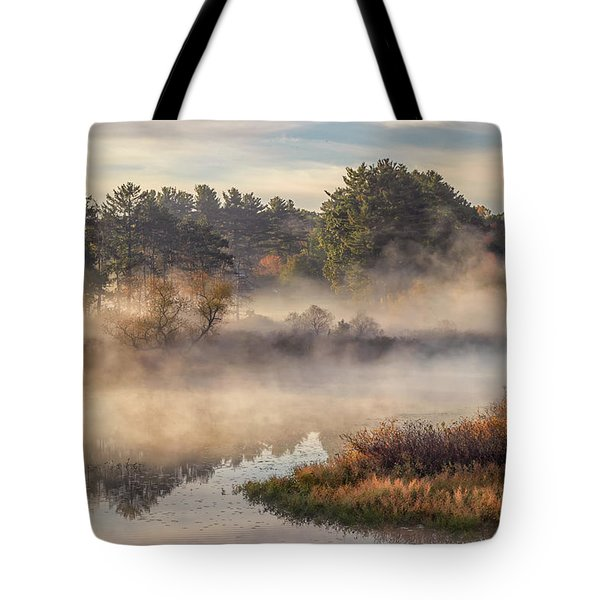 Morning Mist On The Sudbury River Tote Bag