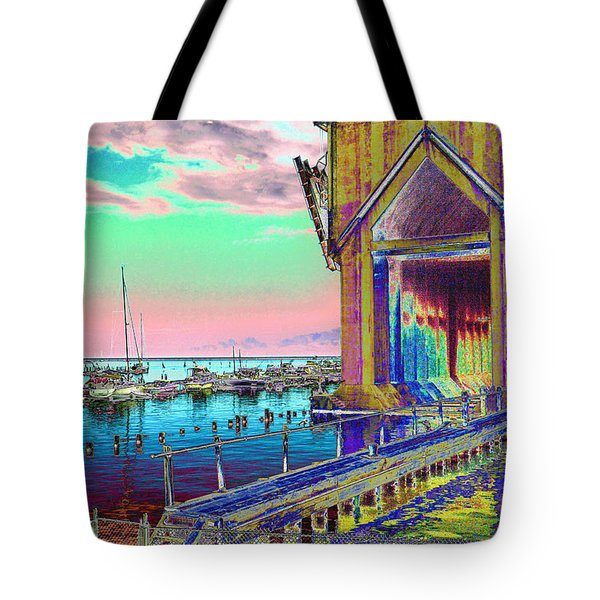 Morning Pink Marquette Ore Dock Tote Bag